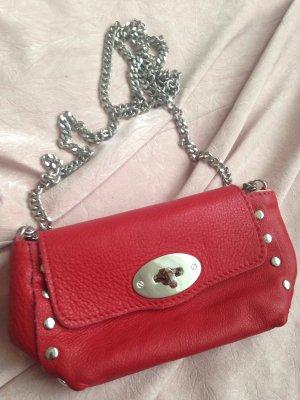 Tolle kleine rote Lederhandtasche aus Florenz