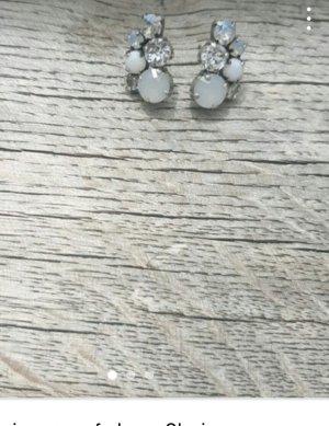 Komplott Silver Earrings white-cream
