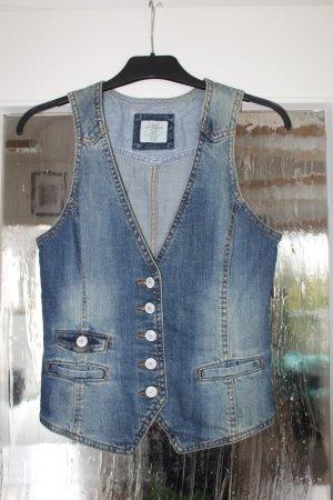 H&M L.O.G.G. Gilet en jean bleu pâle-gris ardoise