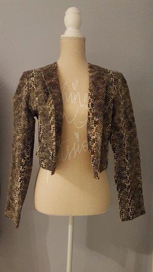 Alba Moda Short Jacket multicolored leather