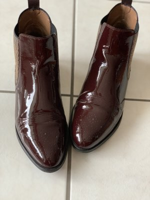 Pertini Slip-on Booties brown red-gold-colored