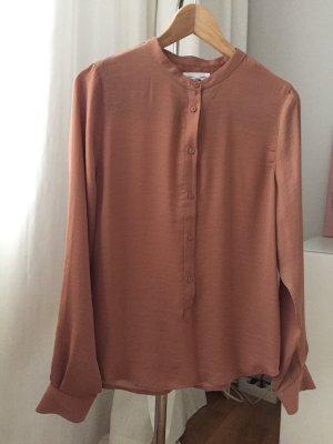 Tolle langärmelige Bluse Blusenshirt von Moss Copenhagen bronzefarben, Gr. S