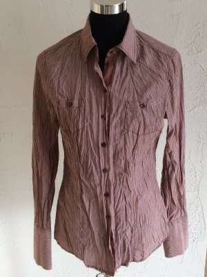 Tolle langärmlige Bluse Gr. 40 im angesagten Knitter-Look in Gr. 40