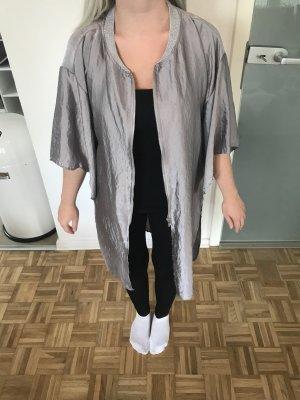 Zara Veste argenté-gris clair