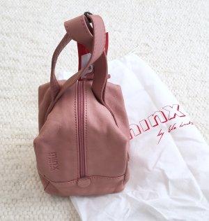 Tolle Leder Abendtasche Clutch Lederbeutel rosa von MINX by Eva Lutz Neu
