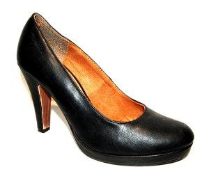 Tolle Leder Pumps - High Heels in schwarz von Tamaris Gr.38