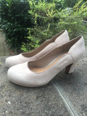 Tolle Leder Pumps in Schlangen Optik