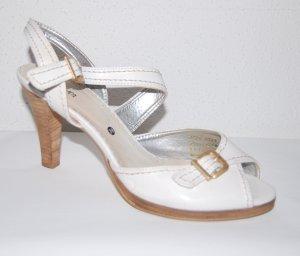 tolle - Leder - Riemchen - Sandale - weiß - von s.Oliver - Gr. 38