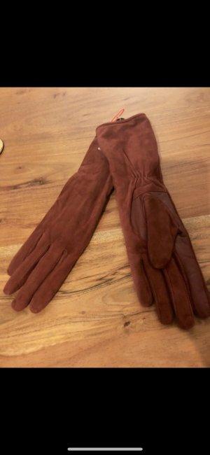 Tolle Lederhandschuh mit Glatt/- und Verloursleder