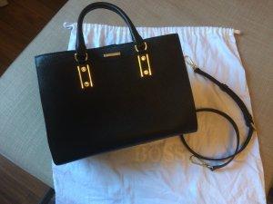 Hugo Boss Frame Bag black leather