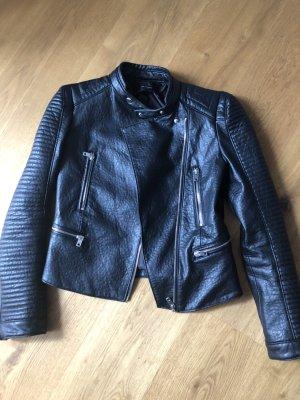 Zara Basic Faux Leather Jacket black