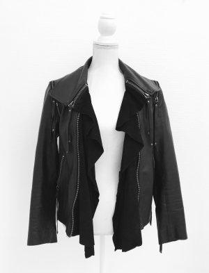 Tolle Lederjacke von Sara Berman, Gr. S, schwarz, echtes Leder