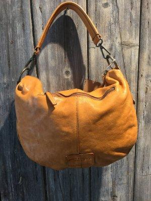 Crossbody bag cognac-coloured leather