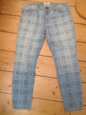Current/elliott Jeans 7/8 bleuet-bleu azur tissu mixte