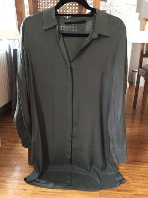 Angela Davis Lange blouse donkergroen-groen-grijs