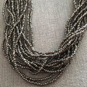 Pearl Necklace bronze-colored-dark brown