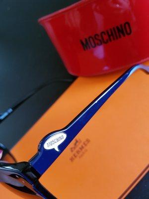 Moschino Zonnebril wit-donkerblauw