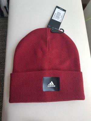 Adidas Beanie dark red-carmine