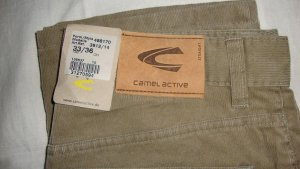 Camel Active Pantalon en velours côtelé marron clair-brun sable coton