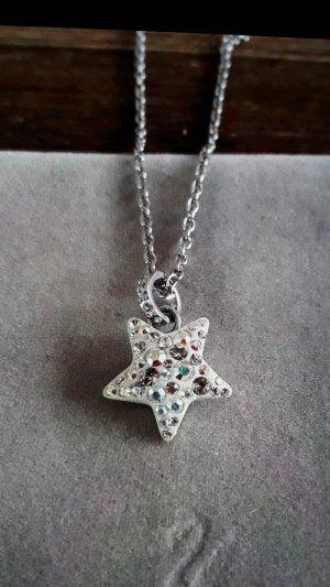 Tolle Neue Halskette mit Stern, Kristalle von Swarovski