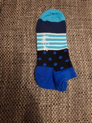 tolle neue happy socks gr.36-40 low blau muster