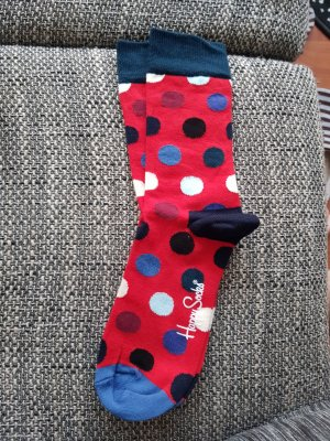 Tolle neue happy socks gr.36-40 punkt rot