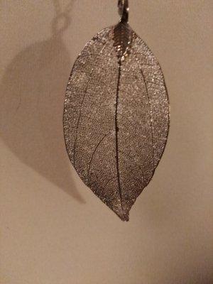 tolle neue Kette silber mti Blatt 88cm