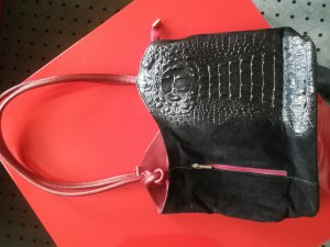 0039 Italy Bag black-dark red leather