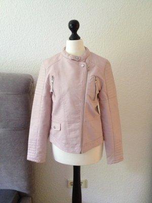 Tolle neue Lederjacke in Puderrosa von Zara Kids