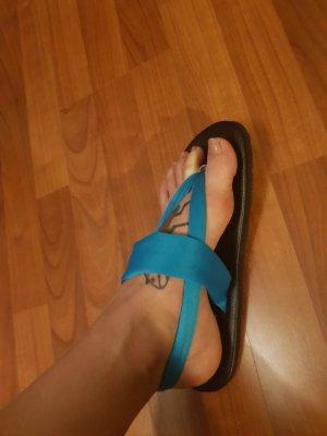 Flip-Flop Sandals black-neon blue