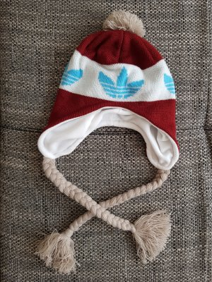 Adidas Knitted Hat carmine-neon blue