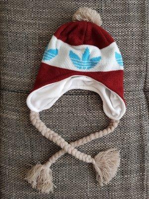 Adidas Cappello a maglia carminio-blu neon