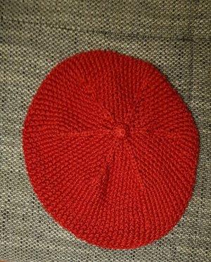 tolle neuwertige strick mütze von volcom rot
