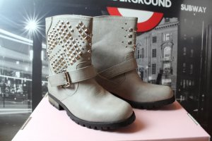 Atmosphere Slouch Booties silver-colored imitation leather