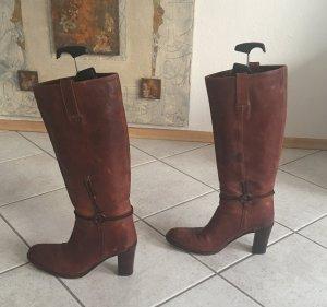 Tolle nostalgische Antike Stiefel in fuchsia