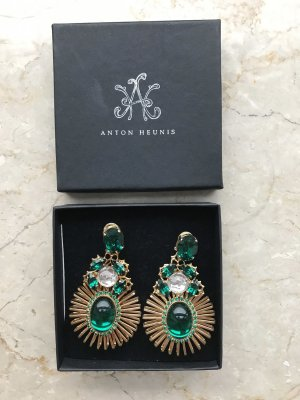 Anton Heunis Statement Earrings bronze-colored-forest green