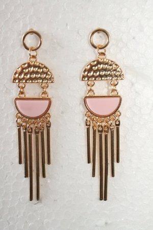 Pendiente color oro-rosa