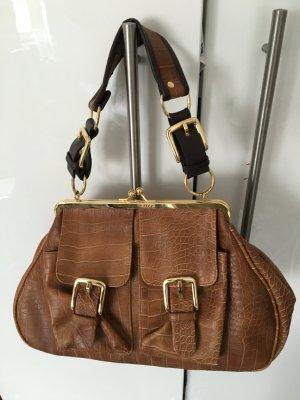 Tolle oldschool Handtasche in Krokoleder Optik von Friis& Company