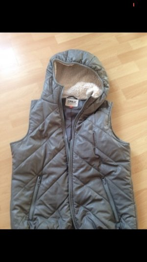 Only Down Vest grey