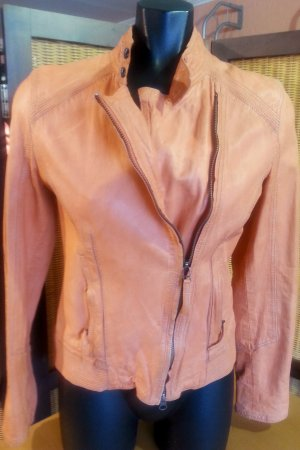 Tolle orange Lederjacke von Jones, Gr. 34