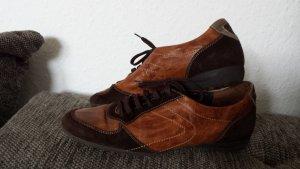 Tolle Paul Green Sneaker Turnschuhe Echt Leder Wildleder Cognac gr 38 Boots
