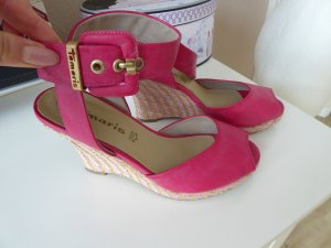 Tolle pinke Riemchenpumps / Peeptoes/ Wedges