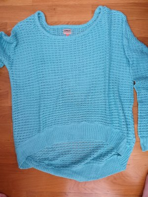 Only Pullover all'uncinetto celeste-turchese