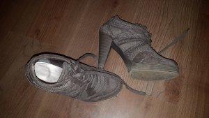 Graceland Tacones con cordones gris claro-gris oscuro