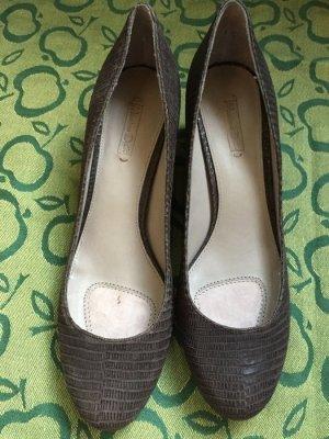 Tolle Pumps/ heels, Massimo Dutti, kroko imitat, Gr. 39
