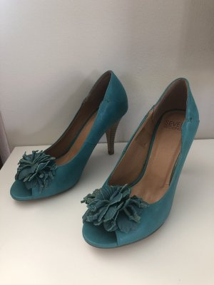 Seven seconds Peep Toe Pumps turkoois