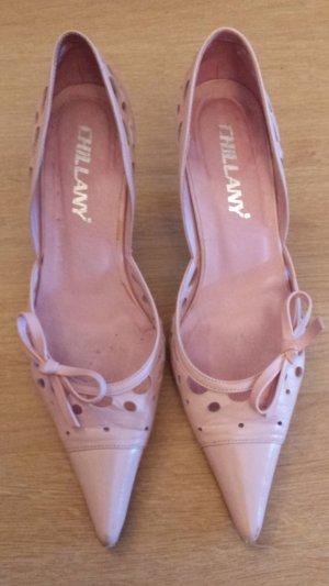 Heine Zapatos de punta rosa claro Cuero