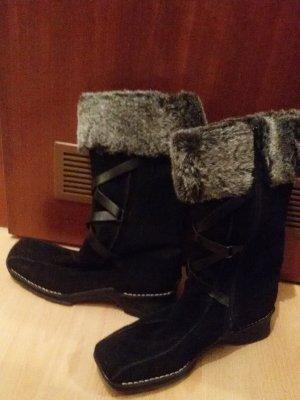 Rieker Fur Boots black