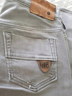 Htc Tube Jeans silver-colored cotton