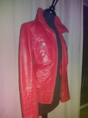 Tolle rote Lederjacke von ONLY